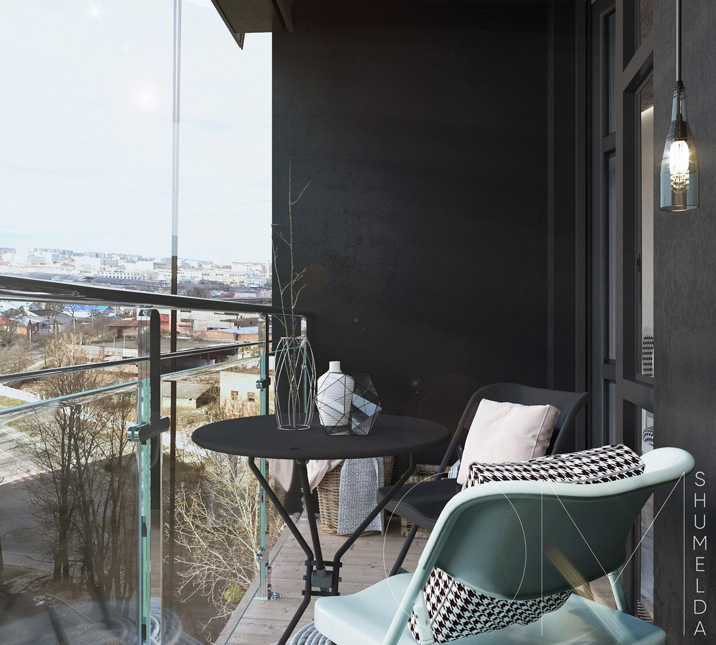 Petit salon de jardin sur le balcon