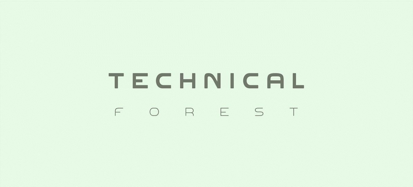 Font  Technical Forest V  3 0 On Behance