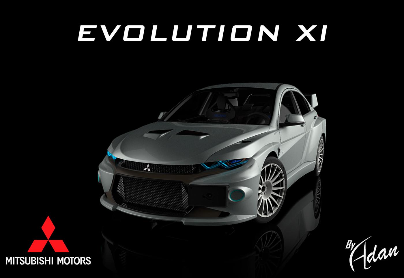 2021 lancer evolution xi mitsubishi evo 11 on behance