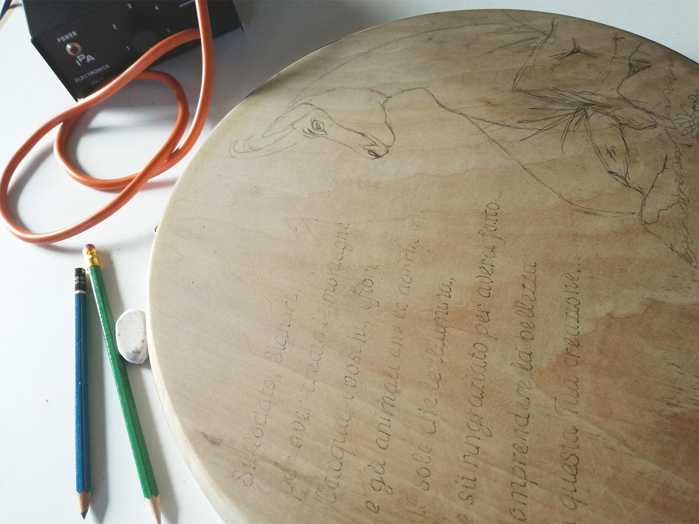 progettazione grafica pirógrafo wood design pirografia pyrography draw
