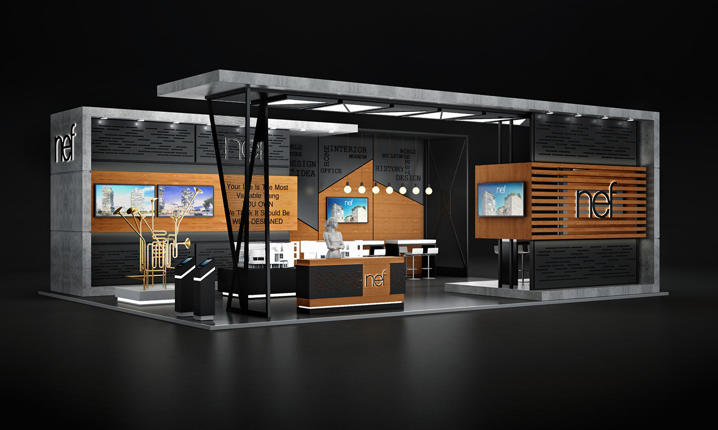 Exhibition Stand Design Northamptonshire : Nef dubai cityscape exhibition on behance