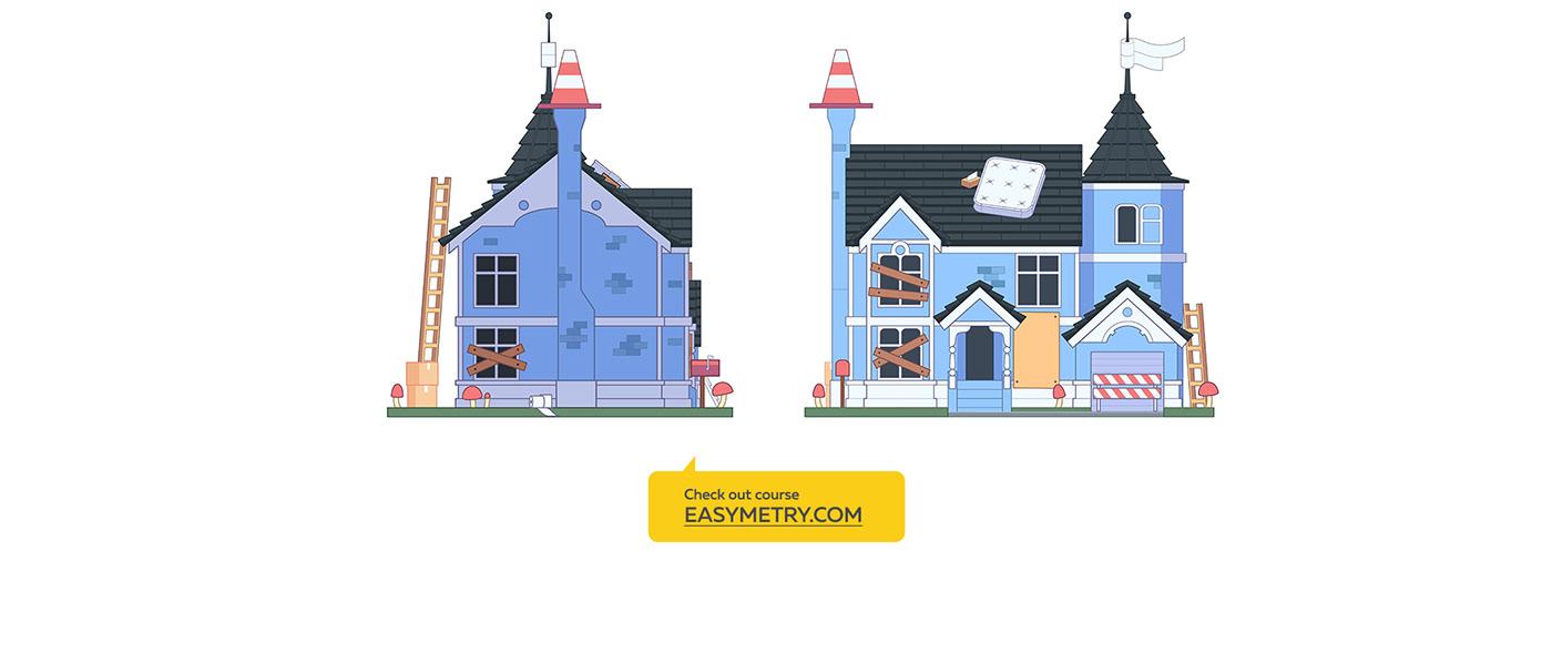 building cartoon city easymetry gameart isometry madrabbit simpsons