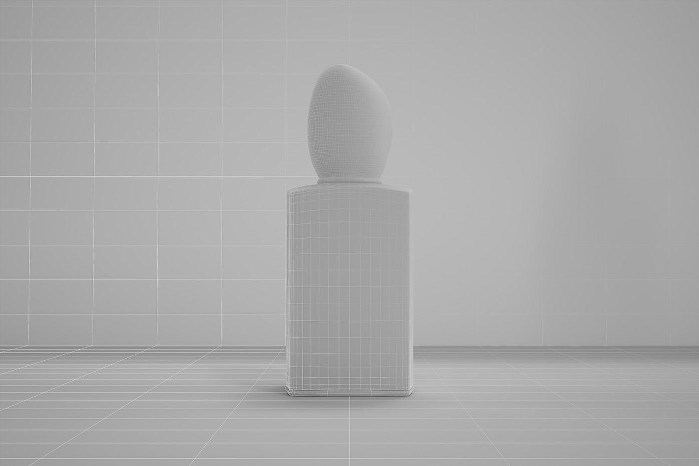 CGI 3D armani perfume Visualising modelling designer Packaging
