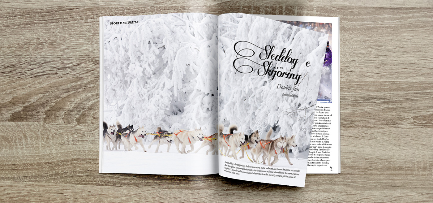 graphic Layout magazine brochure dolomites sport Nature Picture photo trentino tipography color