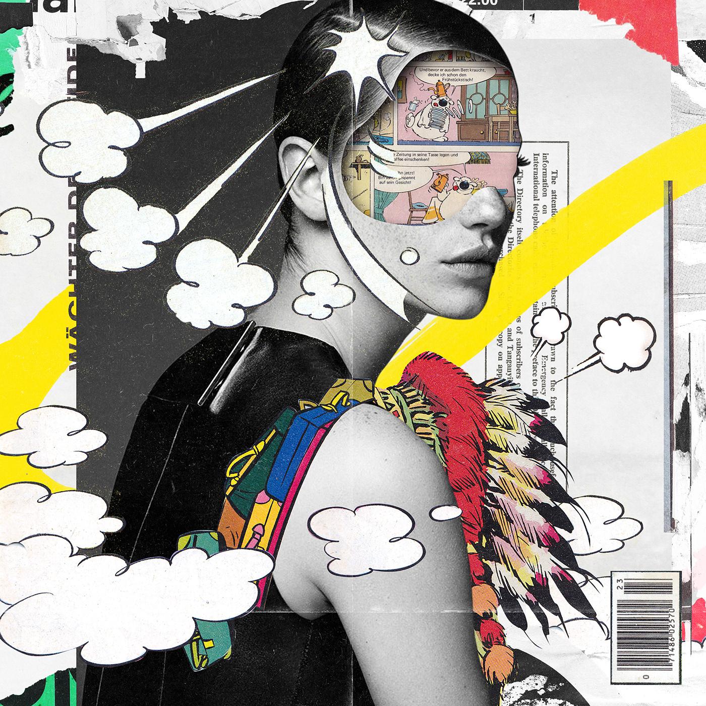 art direction  artwork collage cut and paste digital graphic graphic design  ILLUSTRATION  イラスト コラージュ