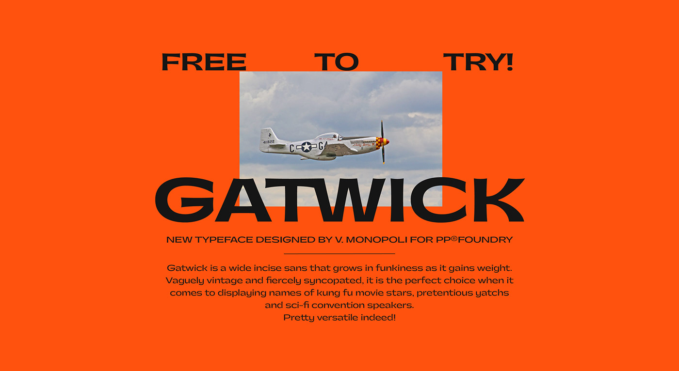 Шрифт – Gatwick