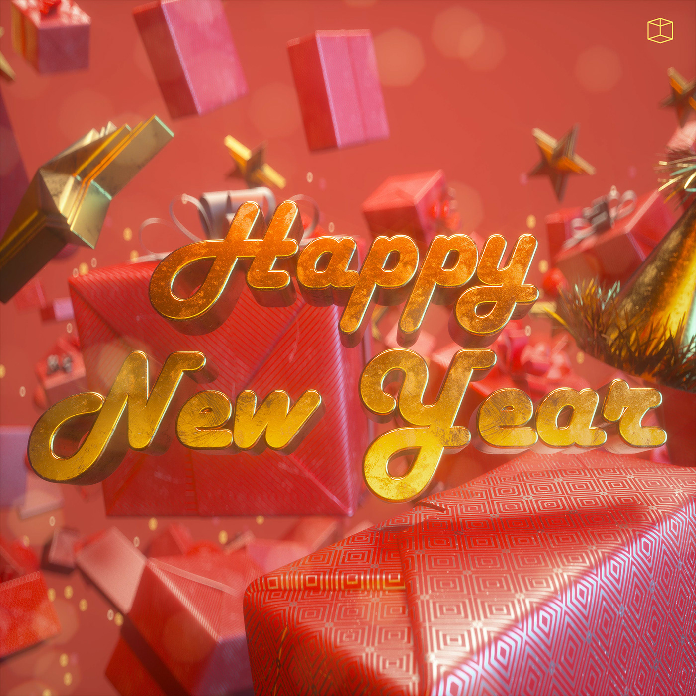 Happy New Year on Behance