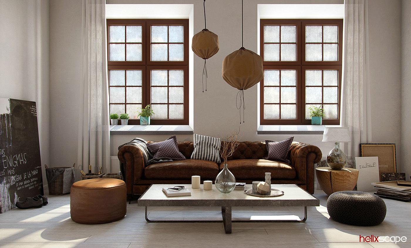 architectural visualization 3D Rendering Interior