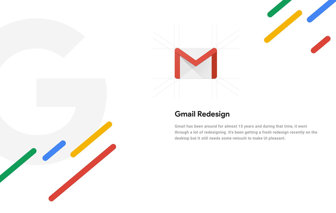 GMail UI mail ux redesign google Web design freebie free