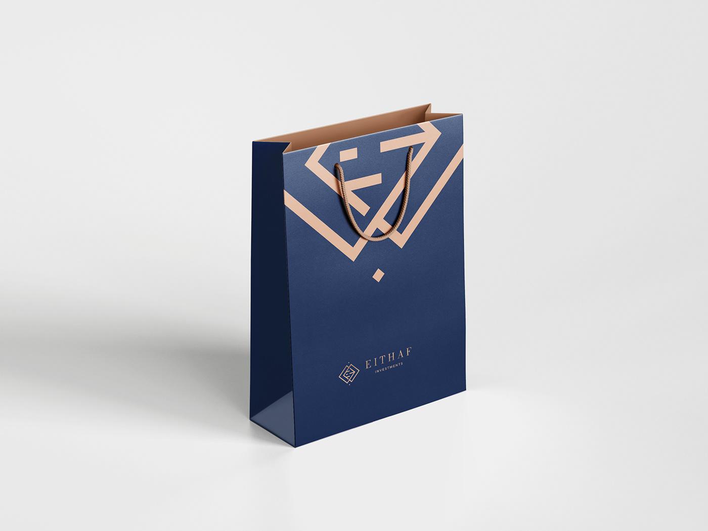 branding  fresh Investments logo modern money premium