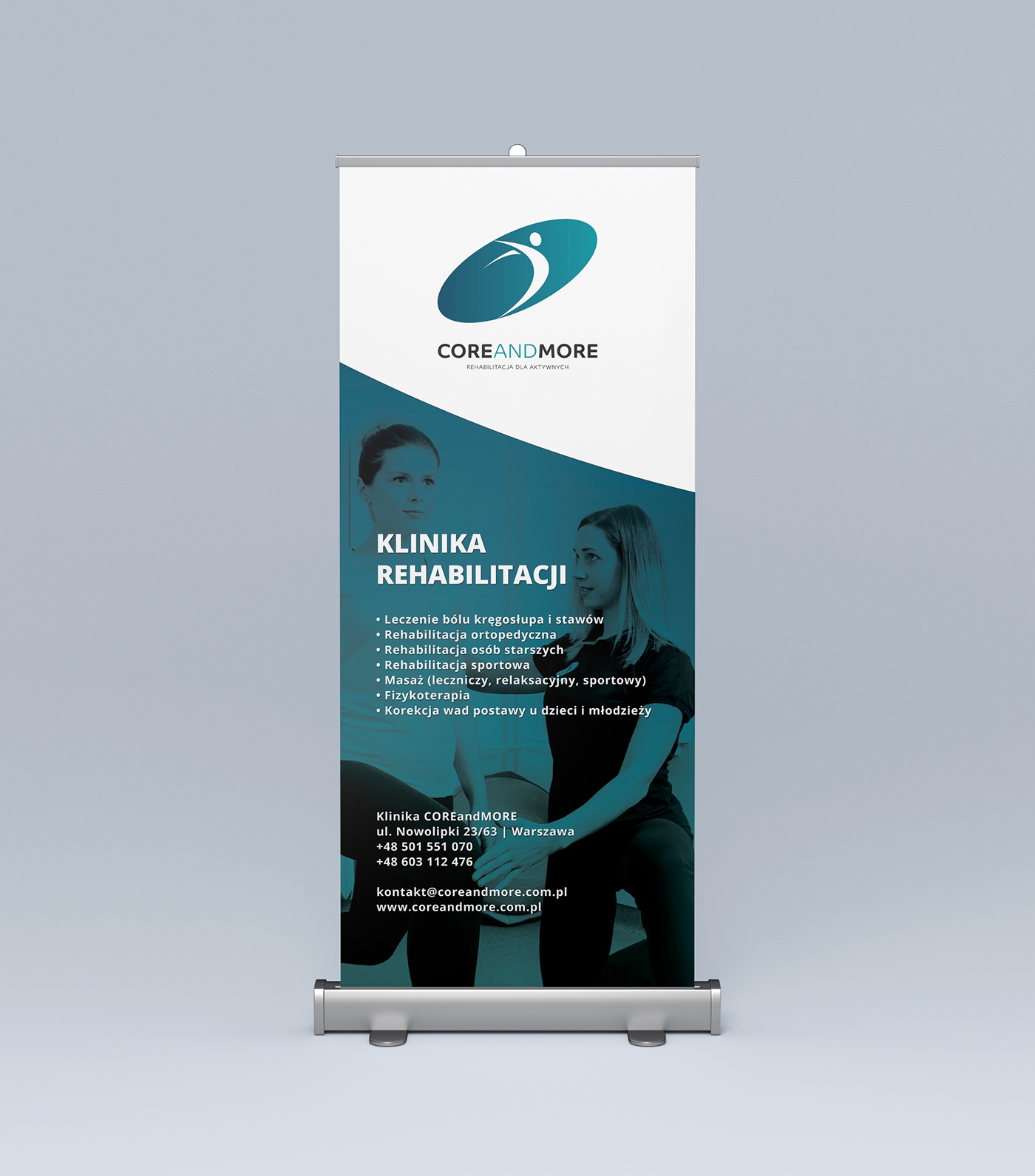 Roll Up,poster,Physical Therapy clinic,pos