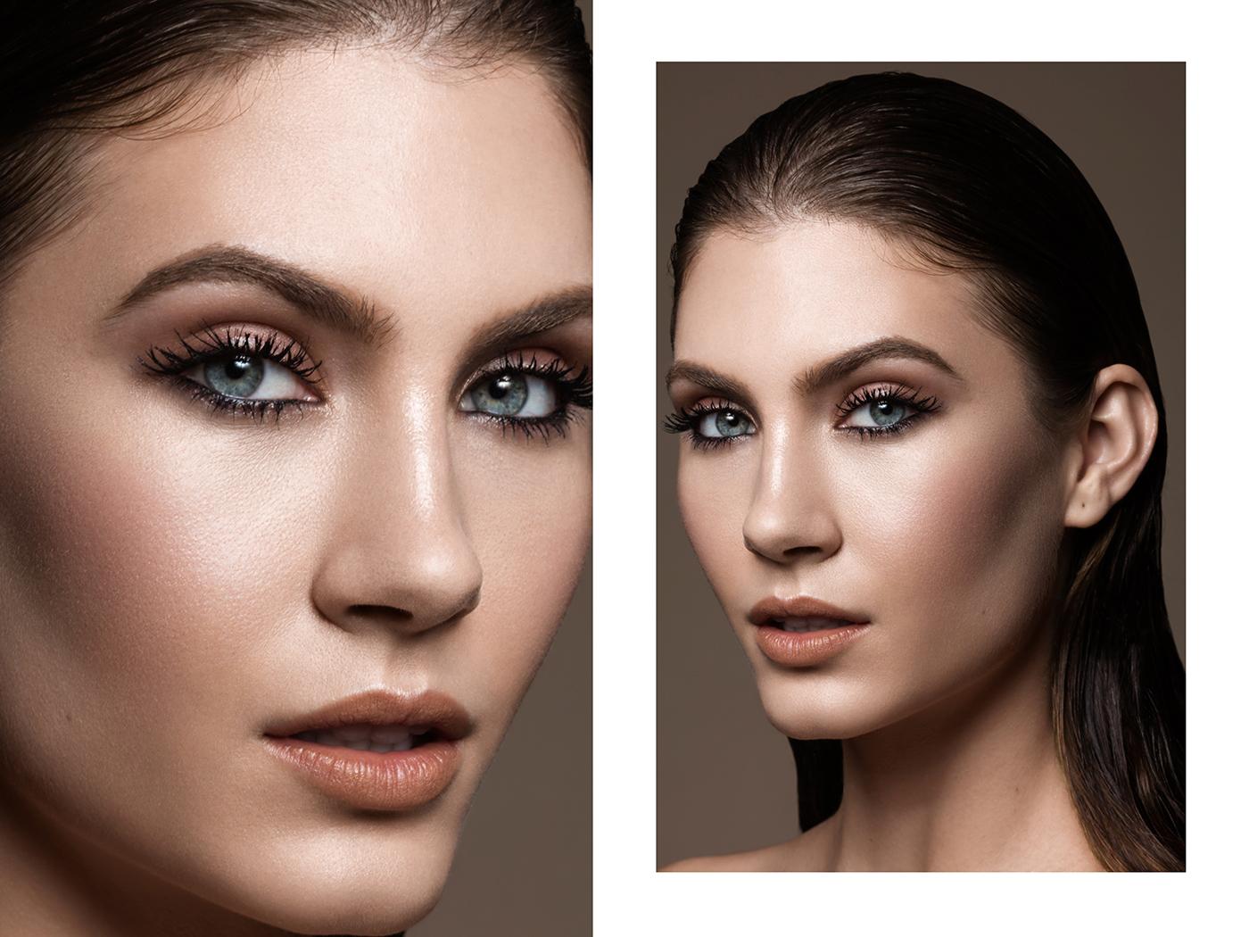 beauty eyes Mouth woman dodge burn post-production tratamento Imagem