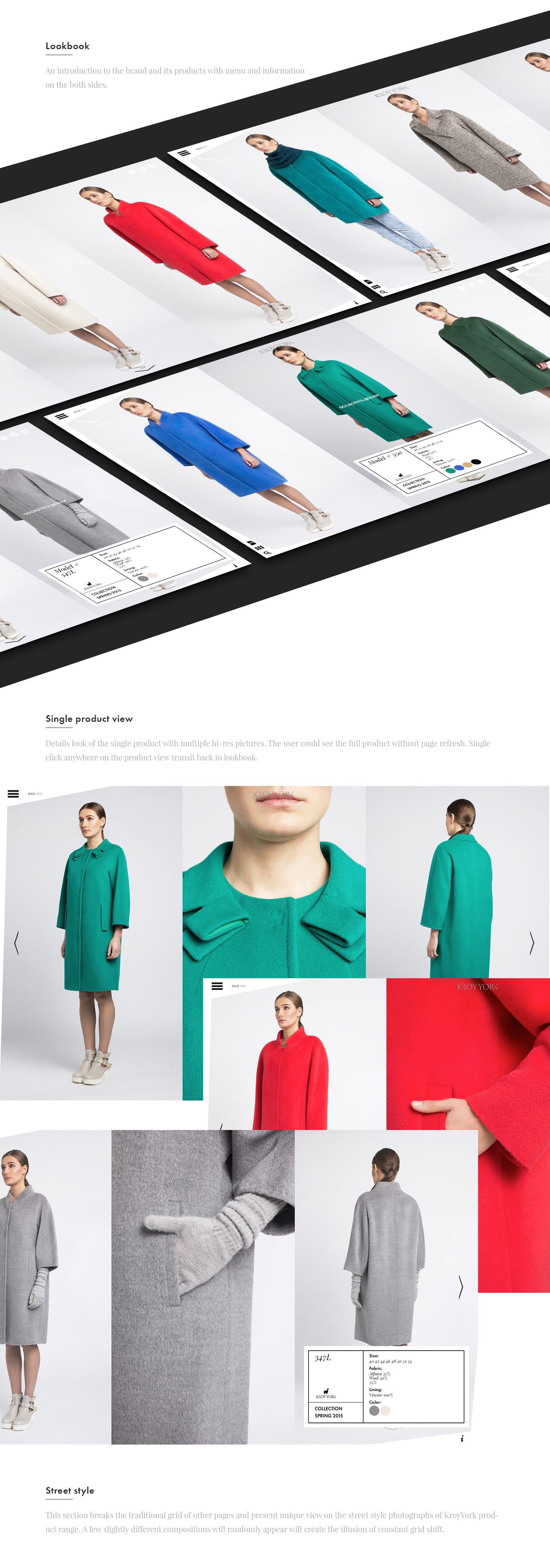promo Website site interactive Russia shop e-shop fullscreen coat Lookbook streetstyle woman trendy