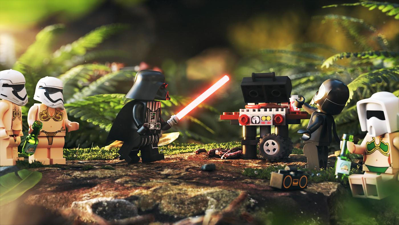 LEGO star wars BBQ fern darth vader KYLO relax