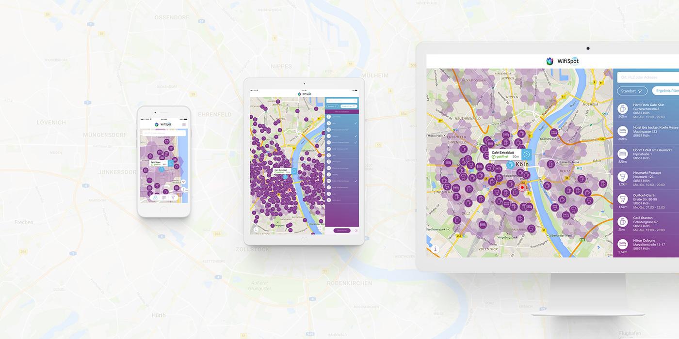 unitymedia wifispot karte Unitymedia – WifiSpot Finder on Behance
