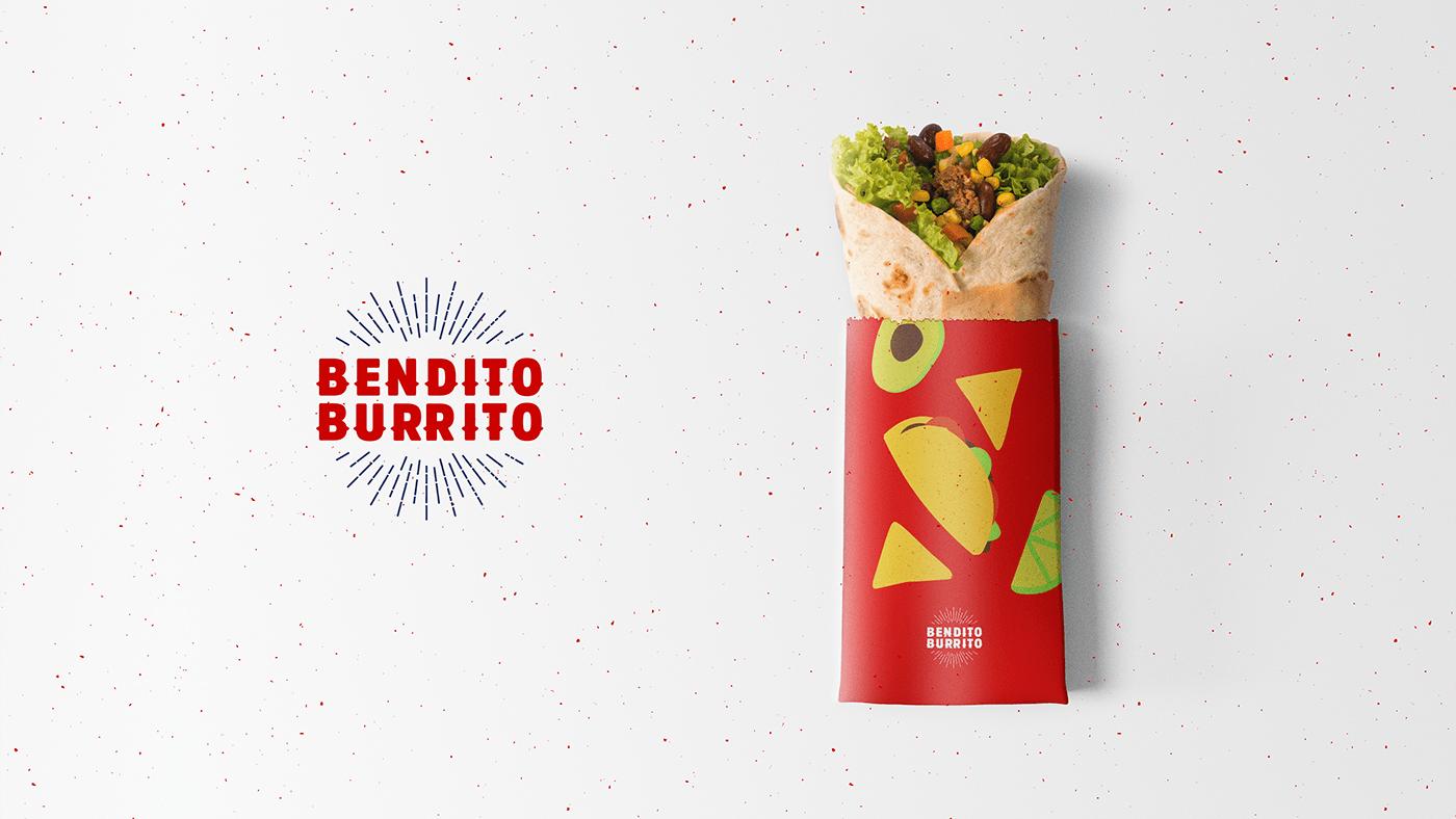 brand identity branding  Burrito Food  ILLUSTRATION  logo Mexican mexico nachos restaurant