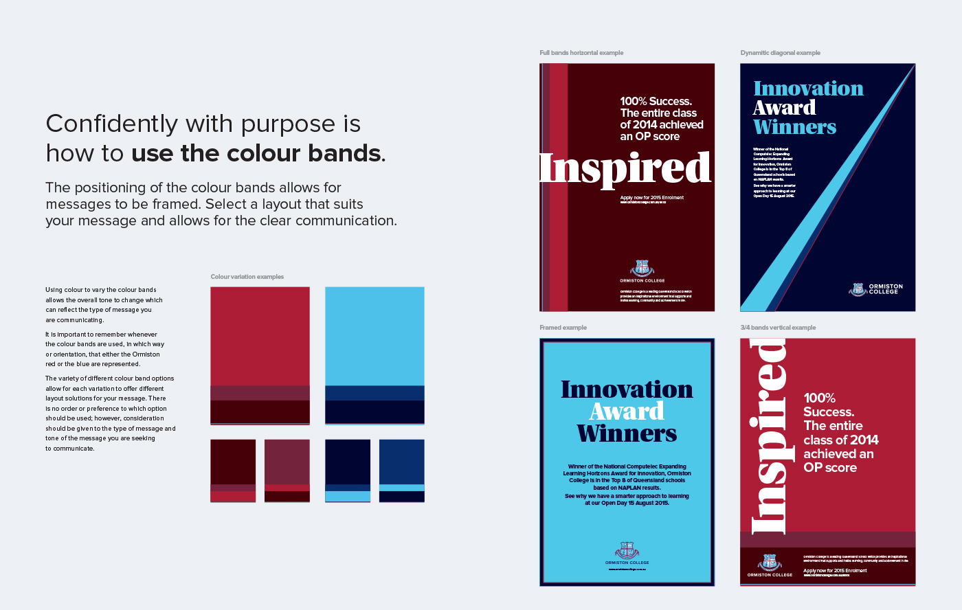 college branding  typography   Photography  art direction  brand manual