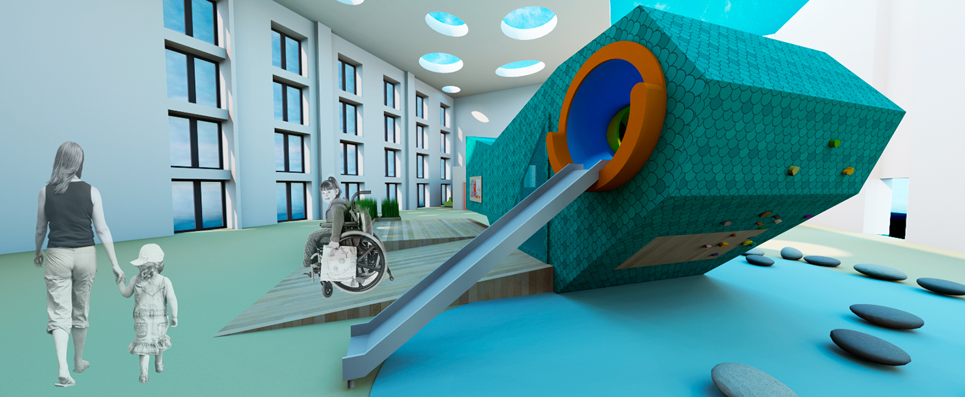 play children smarttech innovation healthcare medical research cabin hospital BiophilicDesign