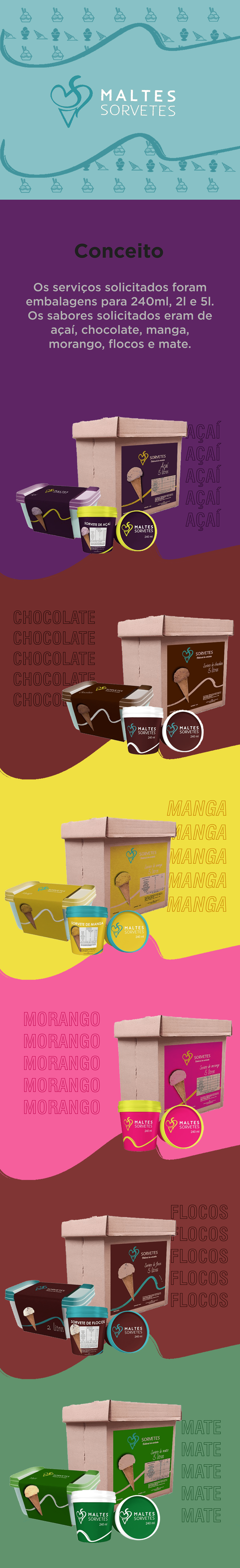 Design de Embalagem design gráfico embalagem identidade visual sorvete