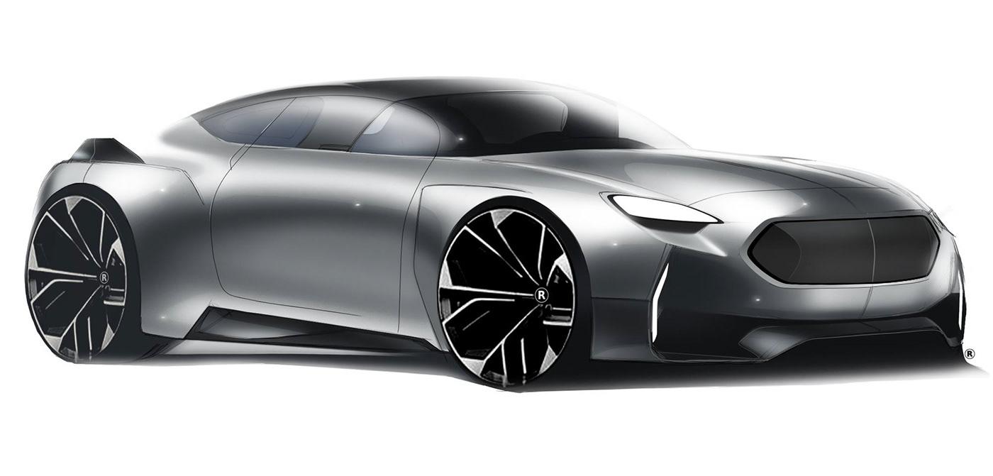 有創意感的20張概念車草圖設計欣賞