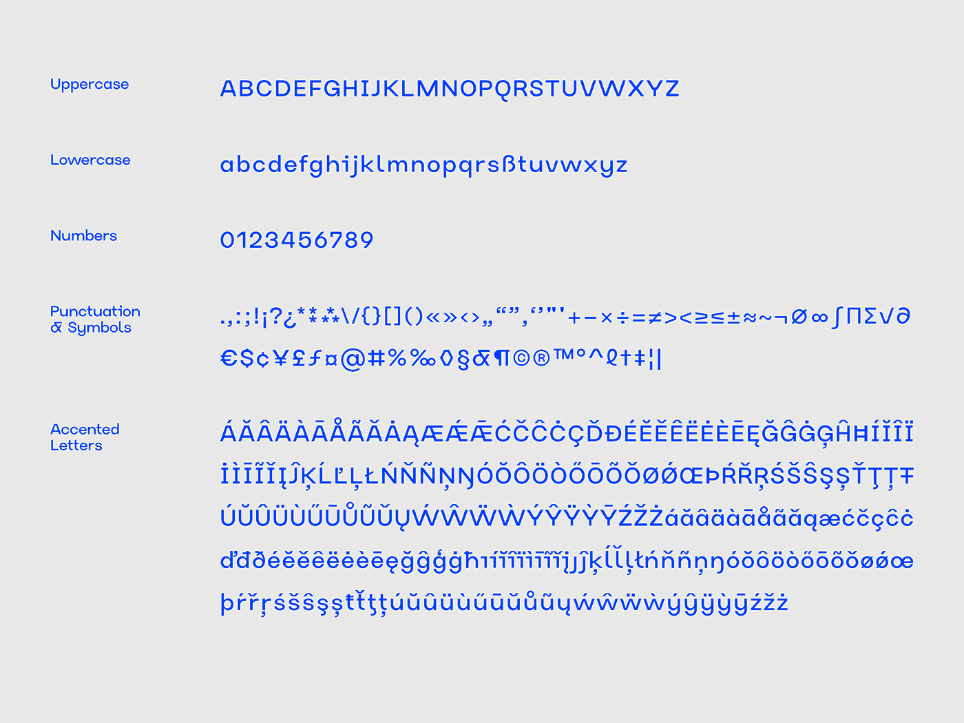 Typeface type font typo width simular same consistent clean flexible