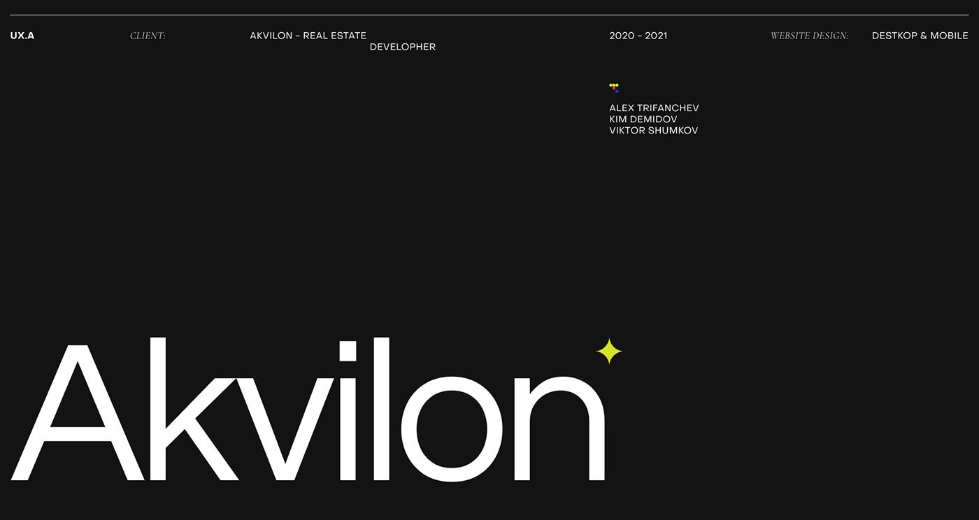 Akvilon - destkop & mobile website design