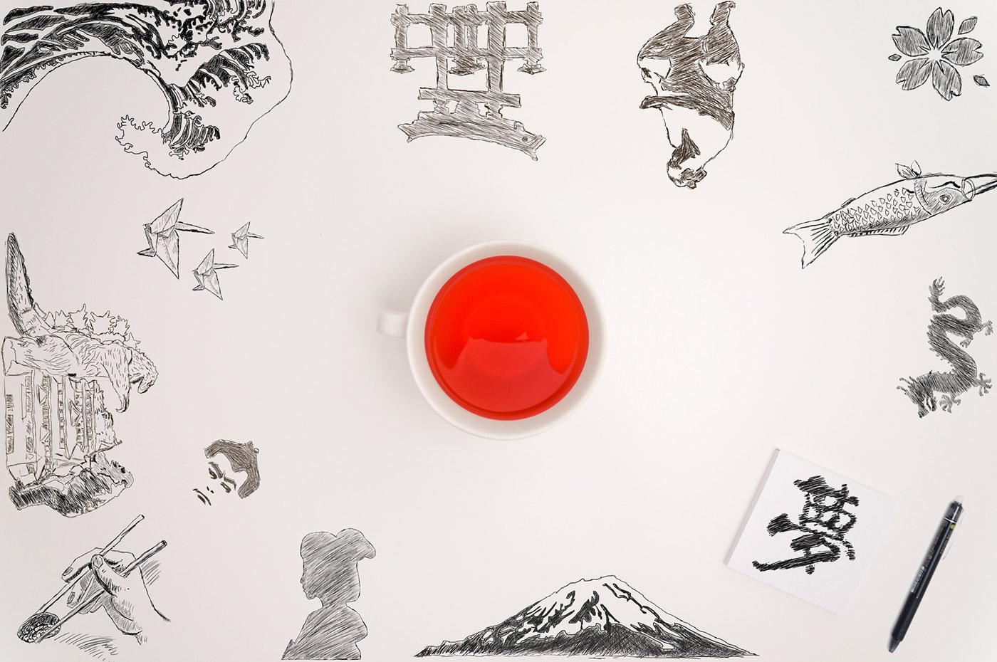 japan tourism communication Travel ILLUSTRATION  Photography  Advertising  drawning