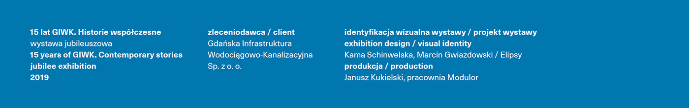 anniversary blue Exhibition  objects Space  water wystawa identity logotyp graphic design