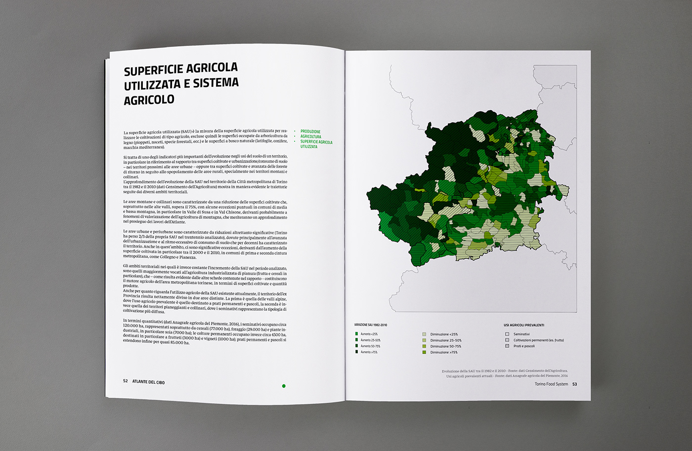 data visualization infographics Data Italy report atlas Food  torino