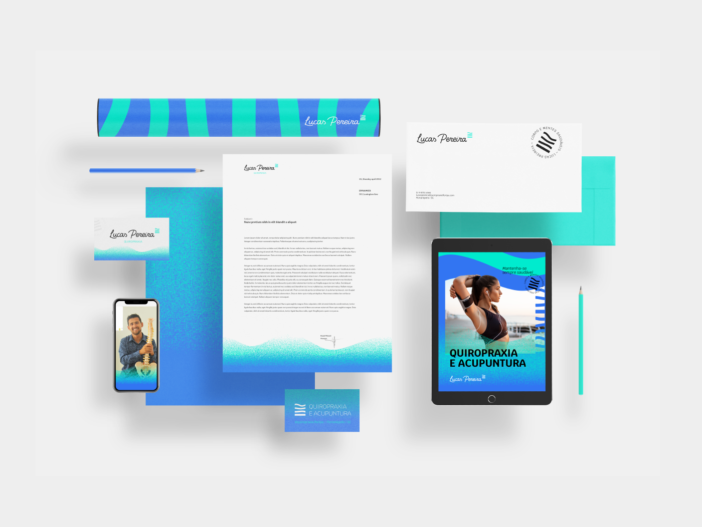 acupuncture beach Brand Design branding  Chiropractic identidade visual Surf visual identity