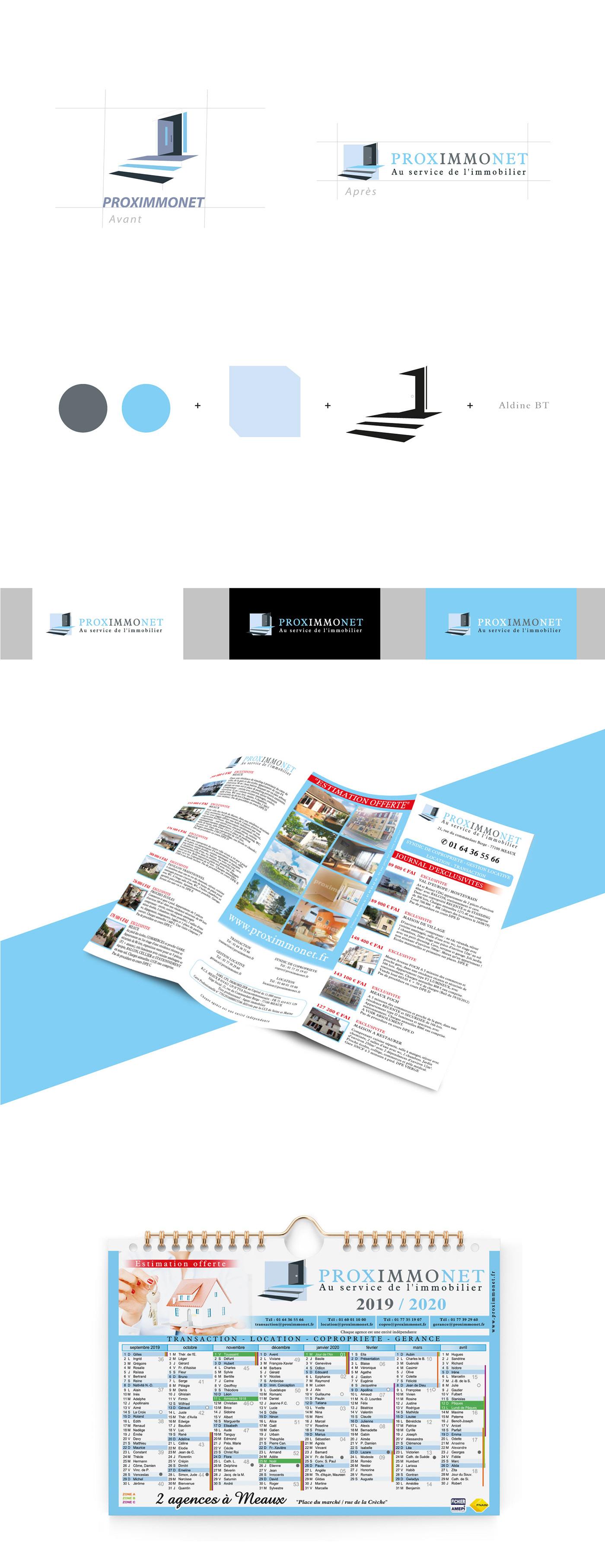 brand identity branding  calendrier charte graphique flyer immobilier logo