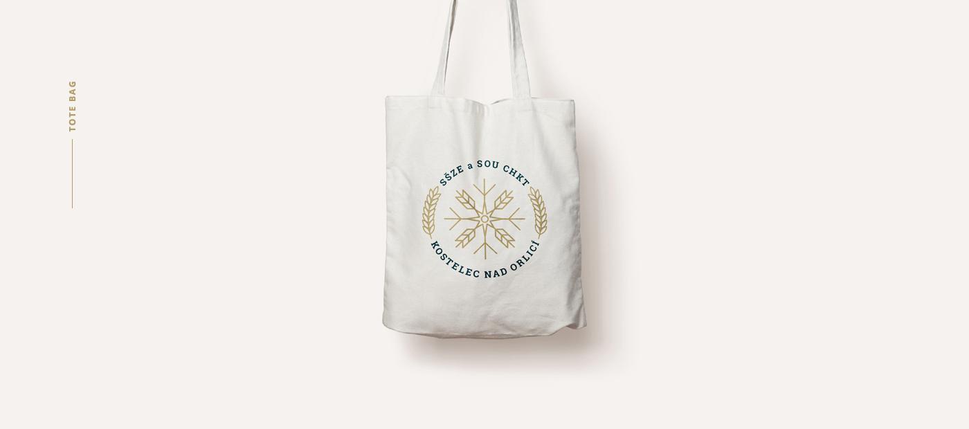 high school identity design - tote bag