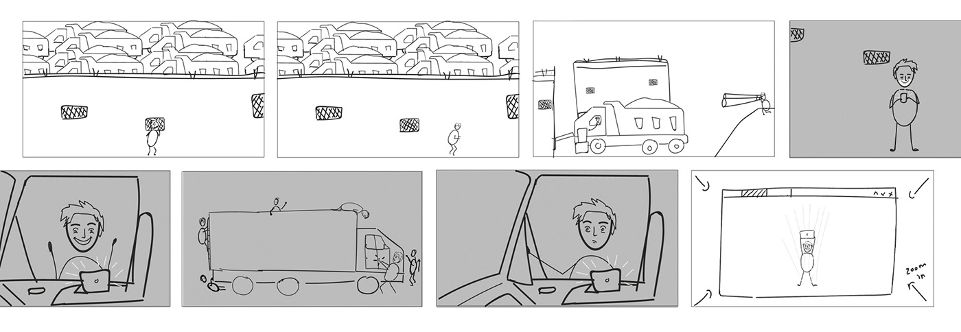 2D Animation animation  Character design  illustrations Rapid7 storyboard