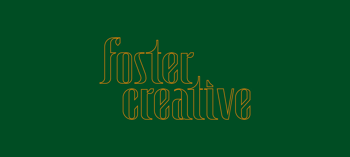 The full, Foster Creative, wordmark built from custom typography.