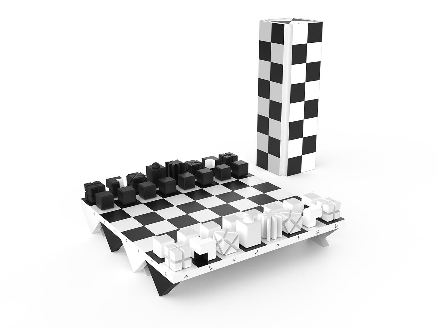 Victor chess innovative chess darko nikolic design innovative chess figures innovative chess set cubical chess
