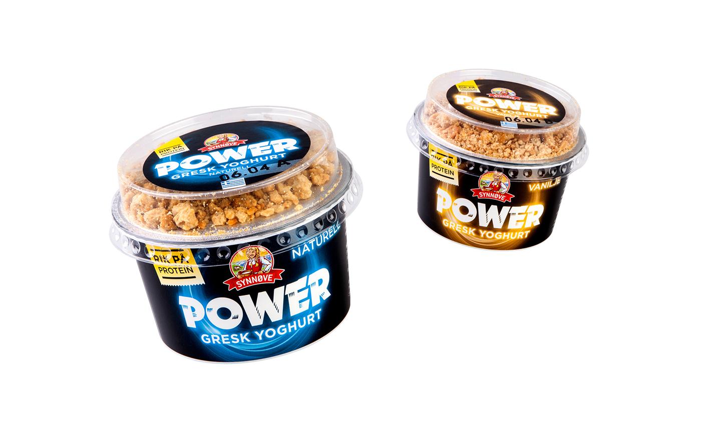 norway Synnøve Finden power yoghurt greek yoghurt fjeldheimpartners concept logo identity