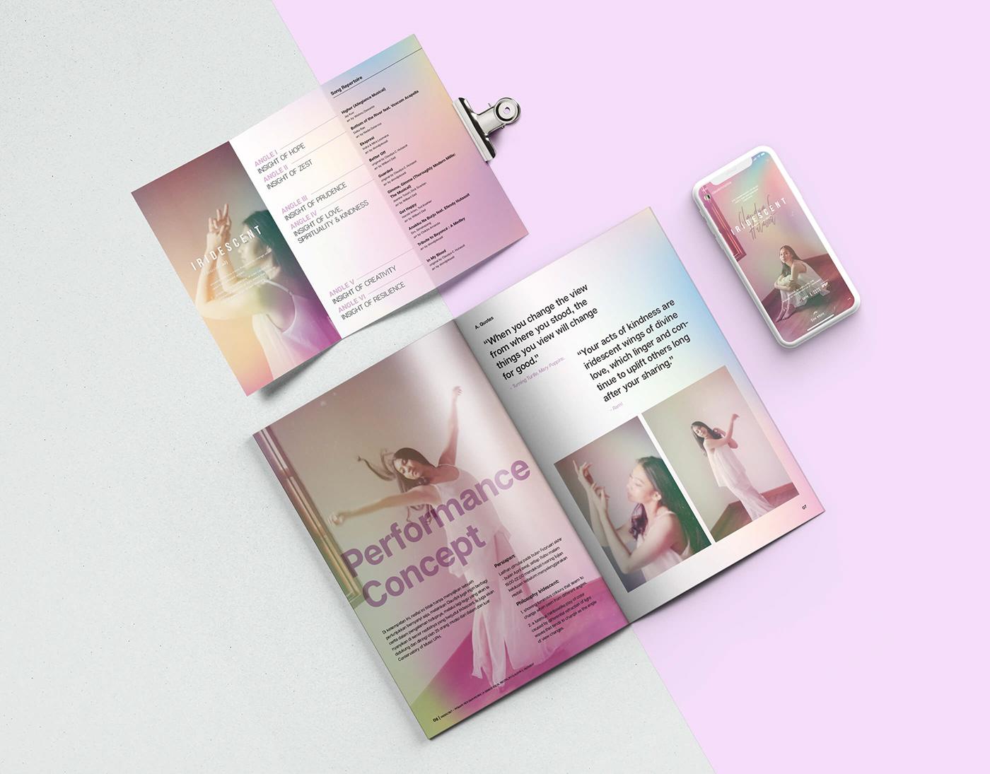 Event Branding recital music Singing Stationery Photography  feminime iridescent purple bright