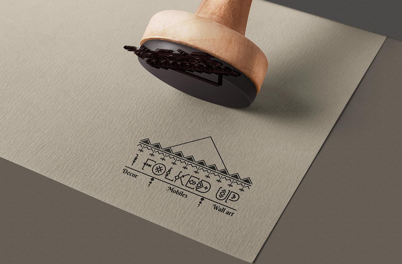 branding  folk art Illustrator Logo Ddesing