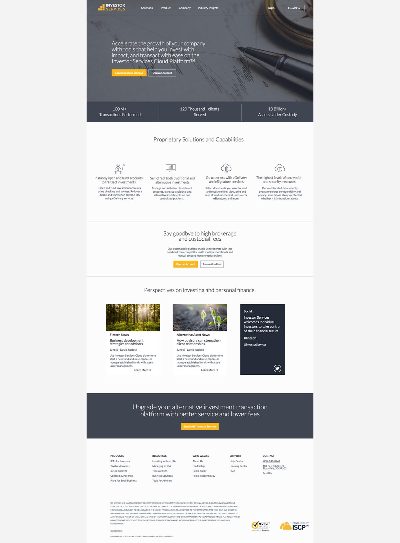 finance financial Website investing financial tech