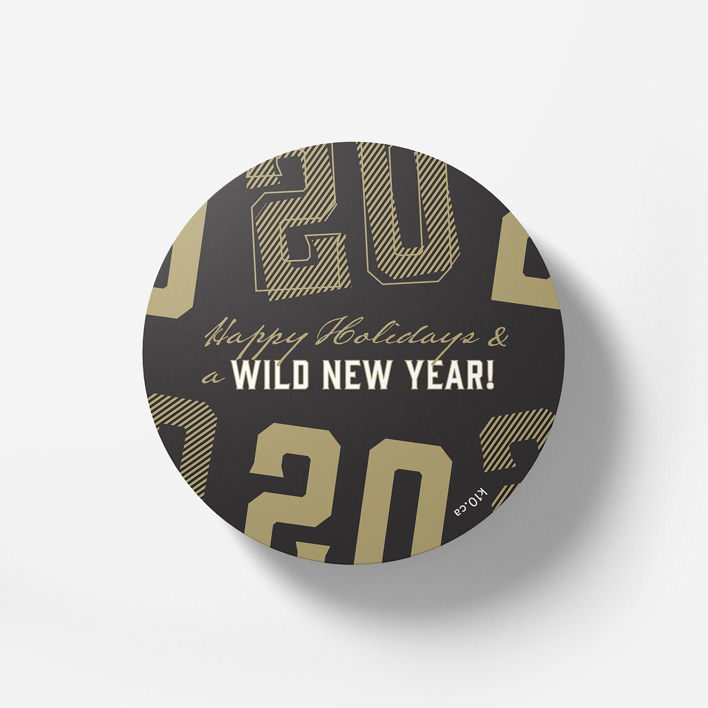 black and gold black on black celebration coaster confetti custom made gold foil Label surprise tube