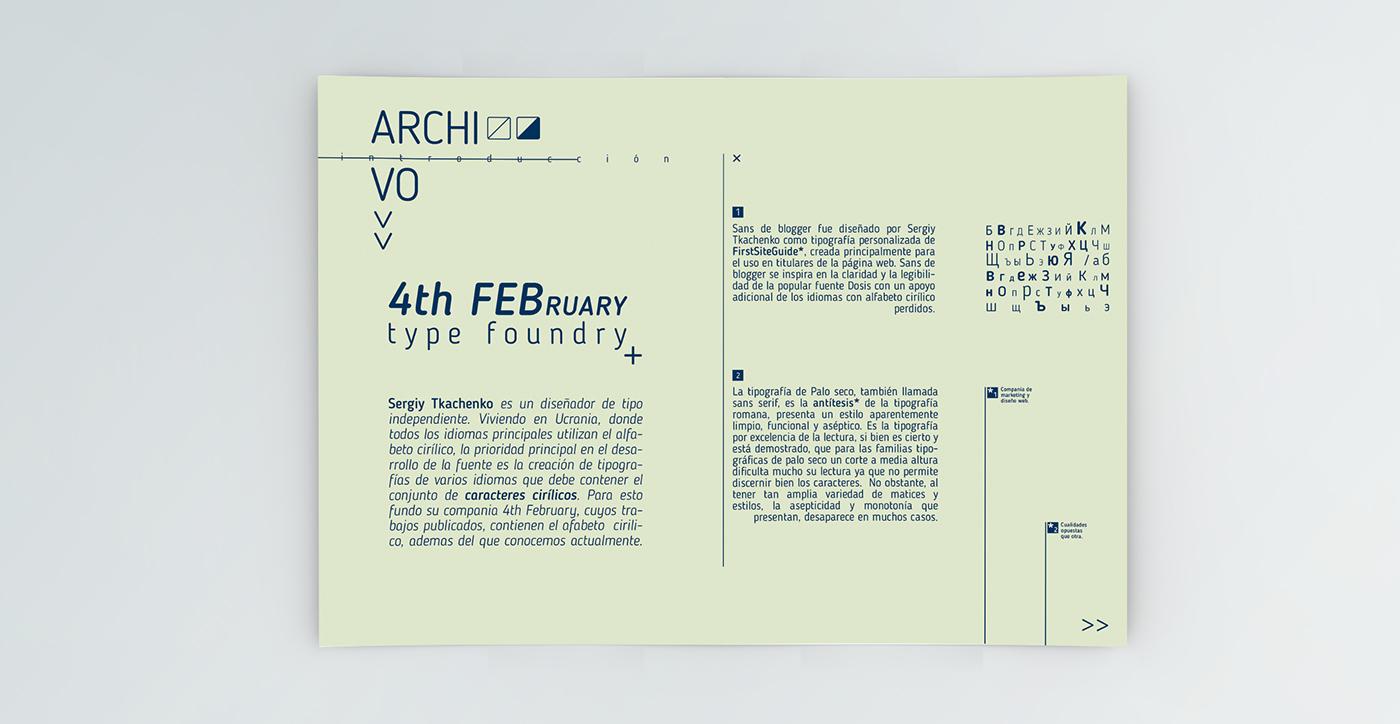 tipographic tipografia Bi-fold blogger sans graphic design  uba CATEDRA VENANCIO  editorial