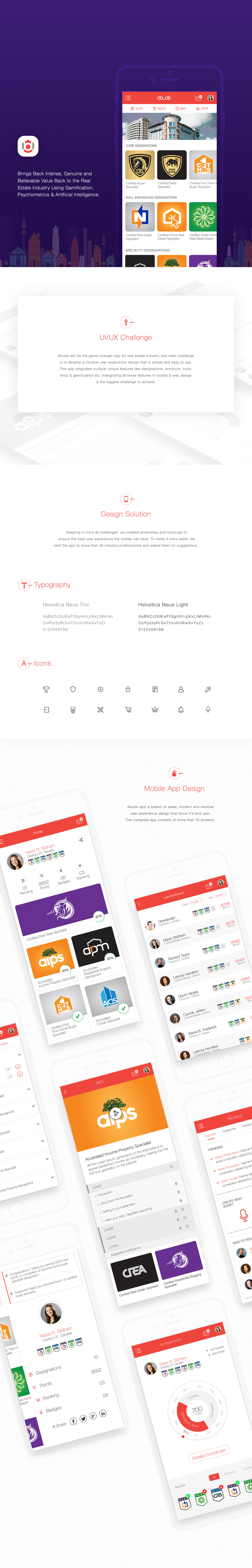 real estate mobile app design educational app helvetica minimal Whitespace