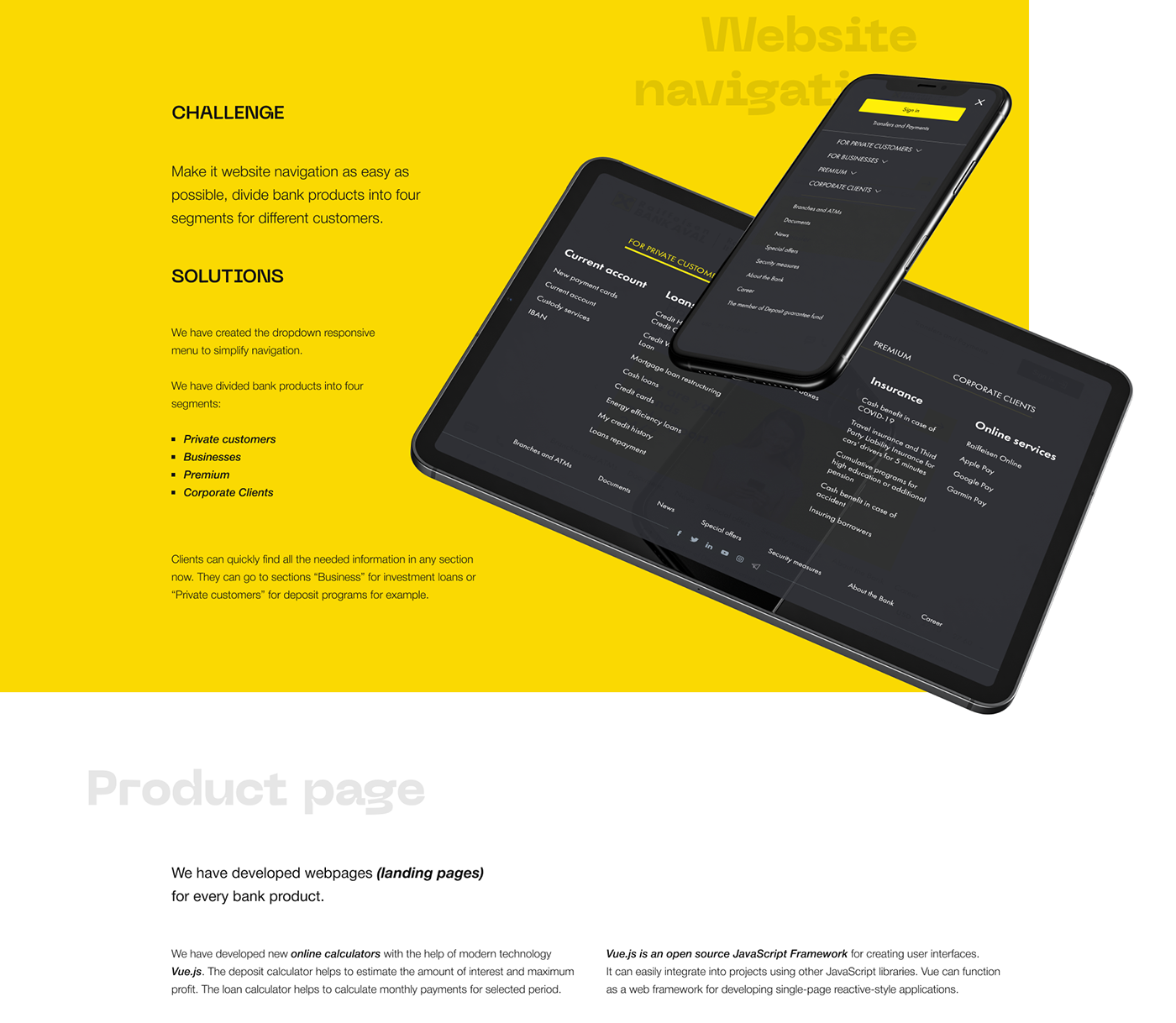 Bank banking development finance Interface raiffeisen bank aval site UI/UX vis-a-vis web-design