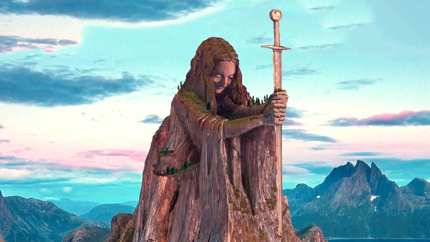 after effects Procreate digital art matte painting   figure woman fjord viking