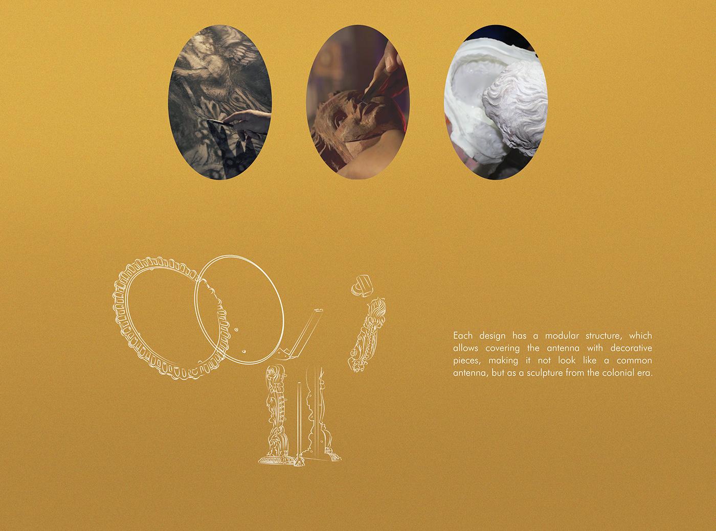 sculpture craft quito colonial receptors Advertising  Cannes DirecTV design heritage