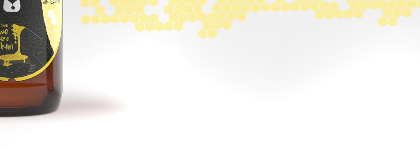 beer honey bear bee yellow Packaging Label bottle vector Drawing