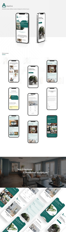adaptive design branding  design graphic design  interior design  product design  UI/UX Website