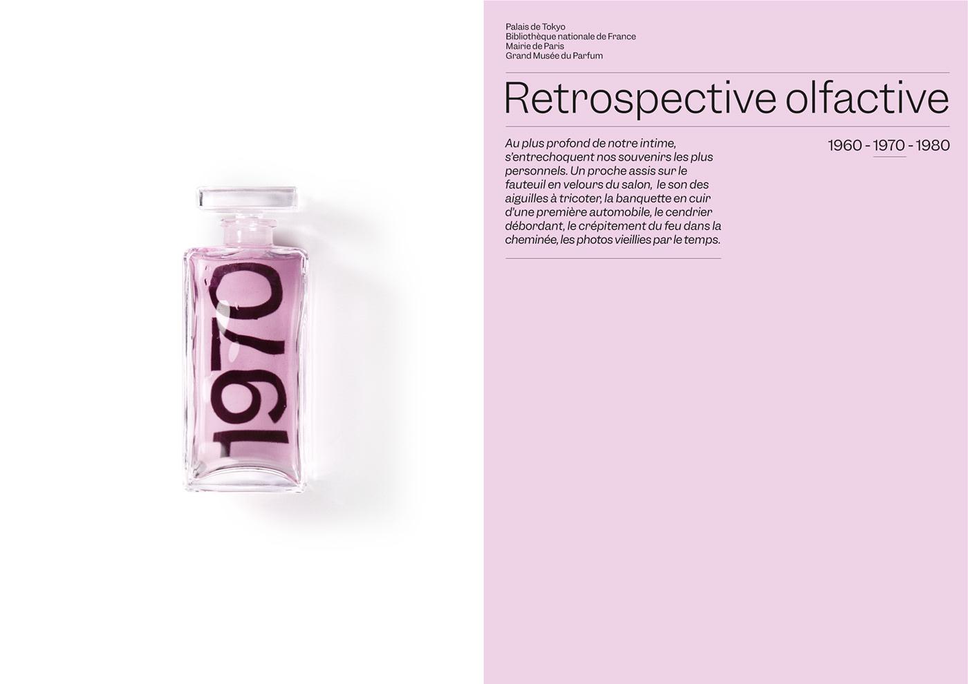 Fragrance luxe Experience type memories print distortion lights parfum font