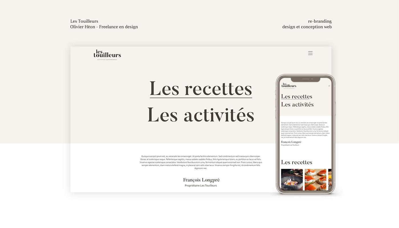 Blog branding  Conception Web design mobile ux/ui Web