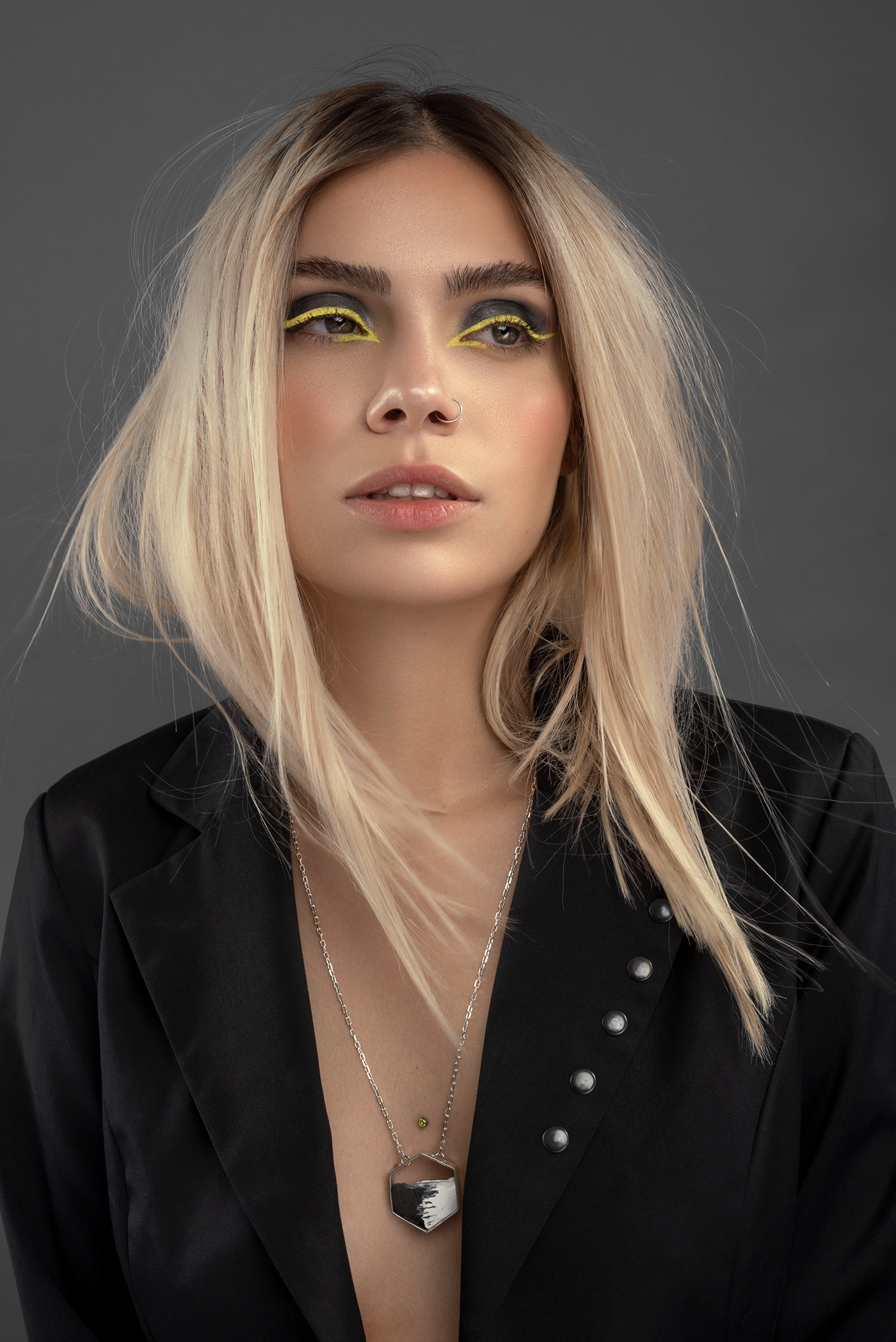 accesories beauty Fashion  glow grey makeup pantone2021 Photography  retouch yellow